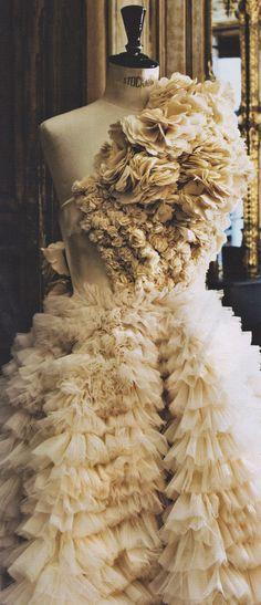ruffles - fabric manipulation dress