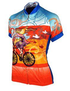 Riding Bicycle Women's Cycling Jersey by 83 Sportswear. #imabetty