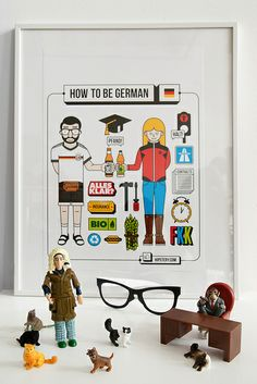 How to be German Plakat