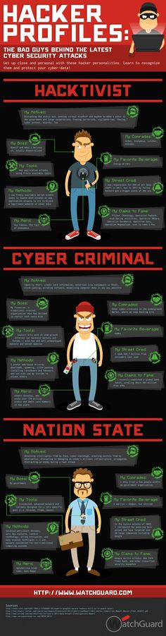Hacker profiles  #infografia #infographic #internet