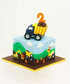 Cars - digger cake