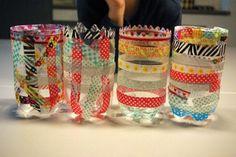 Laternen aus PET-Flaschen / Lanterns made of plastic bottles / Upcycling - oder als Vasen