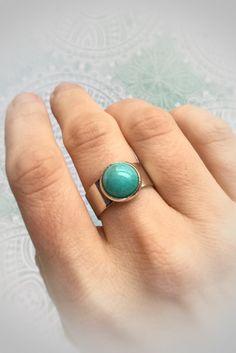 Amazonite Ring adjustable band fits sizes 6 to 9