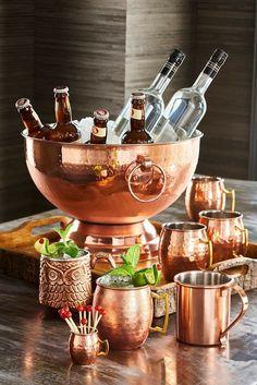 Copper Bar, Copper Pots, Copper Decor, Hammered Copper, Antique Copper, Kitchen Gadgets, Kitchen Appliances, Kitchen Ware, Copper Kitchen Accessories