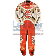 Alex Barros Suzuki Lucky Strike 1994 MotoGP Leathers - https://www.leathercollection.us/en-we/alex-barros-lucky-strike-1994-leathers.html Alex Barros, Lucky strike leathers, Suzuki leathers #AlexBarros, #LuckyStrikeLeathers, #SuzukiLeathers