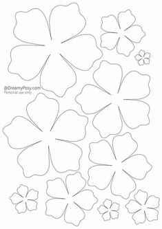 Draw and cut paper flowers. Color two flowers of the same color, so you will have pairs of flowers. Tell your mom to hide one flower from the pair in your bedroom and you will have to find all of them Felt Flower Template, Paper Flower Patterns, Paper Flowers Diy, Craft Patterns, Felt Flowers, Flower Crafts, Diy Paper, Fabric Flowers, Paper Art