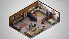 > Isometric < - Photoshop + Cinema - Stocks from CG Textures. Isometric Map, Isometric Design, Low Poly, Fallout 4 Settlement Ideas, Video Game Development, Modelos 3d, 3d Texture, Environment Concept Art, 3d Max