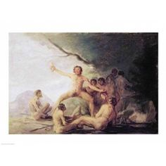 Cannibals Savouring Human Remains Canvas Art - Francisco De Goya (36 x 24)