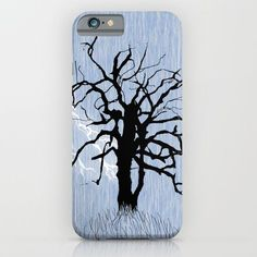 Gnarled Tree and Lightning iPhone & iPod Case by Susan Phillips Hicks of Melasdesign.