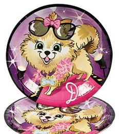 Fashion Puppy Dinner Plates (8) : Fashion Puppy Dinner Plates are a great addition to your puppy themed party!