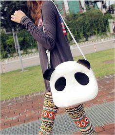 Cute Panda PU Leather Handbag Shoulder Bag Cross Body-in Messenger Bags from Luggage & Bags on Aliexpress.com