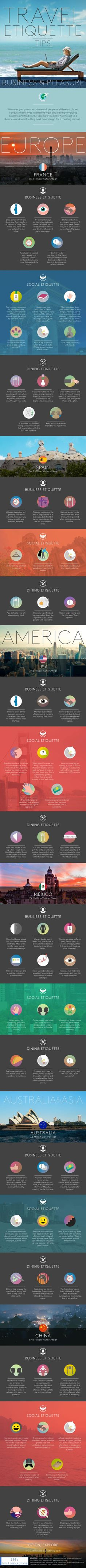 Travel Etiquette Tips #Infographic #Business #Travel