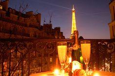 Paris Apartment Balcony Eiffel View