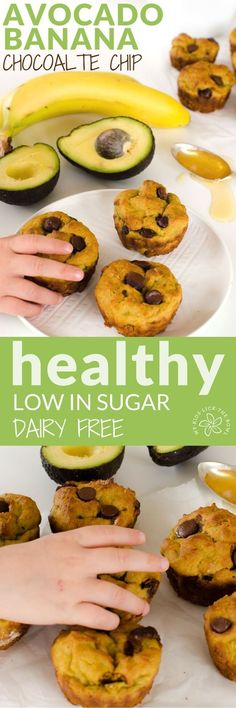 >>>Visit>> Avocado banana muffin recipe chocolate chip healthy dairy free low sugar for kids healthy snack kids in the kitchen cooking with kids Healthy Snacks For Kids, Healthy Sweets, Healthy Baking, Healthy Drinks, Toddler Snacks, Healthy Sugar, Healthy Meals, Gluten Free Recipes Healthy Snacks, Healthy Muffins For Toddlers