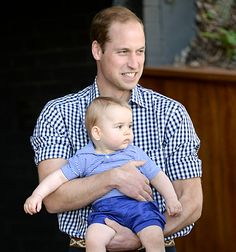 Just Like Us! Prince William revealed that his early morning routine involves feeding Prince George, 11 months, while rocking out to music!