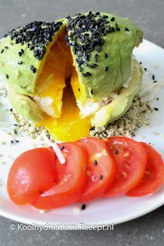 avocado bol met ei, keto avocado bun Keto Avocado, Avocado Toast, Grapefruit Diet, Keto Diet Plan, Breakfast Recipes, Ethnic Recipes, Lchf, Food, Essen