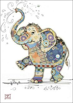 Eddie Elephant bug art greeting card Embossed with gold foil. Applique Patterns, Applique Quilts, Quilt Patterns, Quilting Ideas, Elephant Quilts Pattern, Elephant Applique, Art Quilting, Patchwork Quilting, Pintura Graffiti