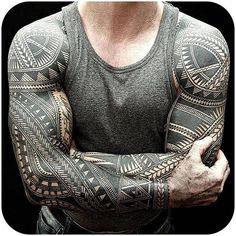 Bold Polynesian And Maori Tattoos Inked Freehand With Elaborate Details - Design. Bold Polynesian And Maori Tattoos Inked Freehand With Elaborate Details - Design. Maori Tattoos, Tribal Tattoos For Men, Maori Tattoo Designs, Samoan Tattoo, Black Tattoos, Tattoos For Guys, Polynesian Tattoos, Tatoos, Swag Tattoo