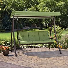 Mainstays Green Leaf Outdoor Swing Seats 3