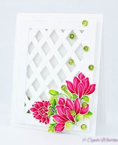 The Pink Envelope: Altenew Persian Motifs - Pretty Little Flowers Lat...
