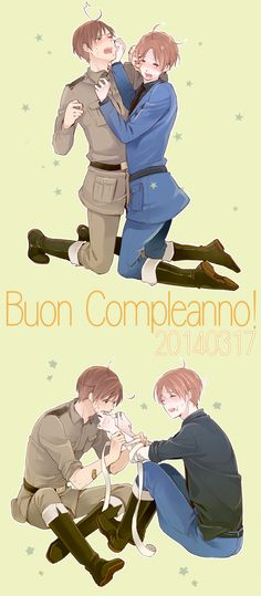 Tags: Anime, Axis Powers: Hetalia, North Italy, South Italy, Hakoniwa, Italy Brothers