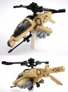 LEGO Metal Legion attack helicopter by Kyle Vrieze. Lego Helicopter, Lego Plane, Attack Helicopter, Lego Spaceship, Lego Robot, Lego Design, Avion Lego, Lego Guns, Lego Pictures