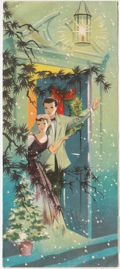 Welcoming vintage couple! (http://www.ebay.com/itm/Vintage-Greeting-Card-Christmas-Couple-Waving-Home-Open-Front-Door-Doorway-a597-/161667371866?_trkparms=aid%3D111001%26algo%3DREC.SEED%26ao%3D1%26asc%3D20140107095009%26meid%3D64b51a8b0c5d4c99a2393d03055e9ce4%26pid%3D100040%26rk%3D1%26rkt%3D4%26sd%3D161667371866&_trksid=p2047675.l2557&nma=true&si=wecS6IWN77YjZsIpOzt9L7Wb3mo%253D&orig_cvip=true&rt=nc)