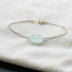 Delicate bracelet, would love to do a bunch of these each with a different stone. #jewels