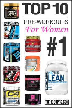 THE BEST SUPPLEMENT TO ENHANCE PERFORMANCE! Source: top10supplements.... These are the top 10 pre workout supplements that are designed specifically for women. Get a huge energy and endurance boost during your workouts after using one of these products. h