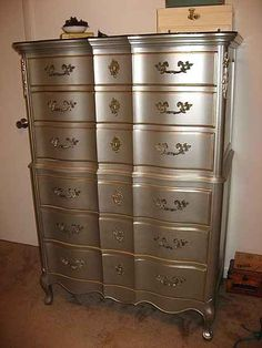 Bling It Up With Metallic Paint | 99 Clever Ways To Transform A Boring Dresser