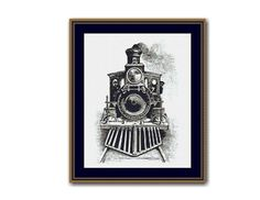 Steam Locomotive Counted Cross Stitch Pattern / Chart,  Instant Digital Download   (AP242) Counted Cross Stitch Patterns, Cross Stitch Designs, Cross Stitch Embroidery, Dmc Floss, Steam Locomotive, Digital Pattern, Symbols, Colours, Chart