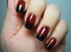 How to get dark & sexy goth nails http://thestir.cafemom.com/beauty_style/163120/7_spooktacular_halloween_nail_art/110787/dark_and_sexy?slideid=110787?utm_medium=sm&utm_source=pinterest&utm_content=thestir