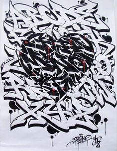Graffiti Lettering Alphabet, Graffiti Writing, Graffiti Font, Graffiti Designs, Street Art Graffiti, Images Alphabet, Alphabet Symbols, Sketch Tattoo Design, Sketch Art