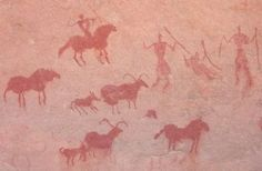The cave paintings at Tassili-n-Ajjer
