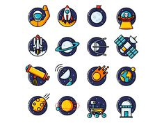 Hey guys!  Happy to announce that my Space Icons is finally available!