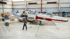 Life-Size 'Star Wars' X-Wing Fighter Built Out of 5 Million LEGO Bricks