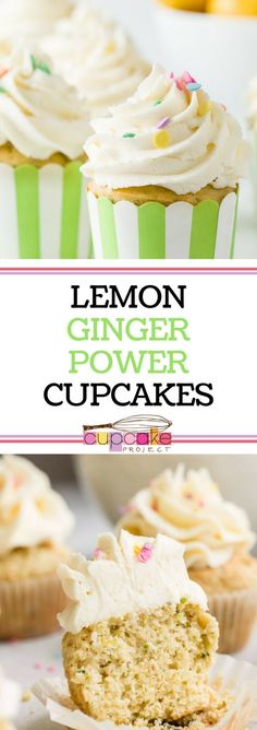 Dying for some cupcake recipes from scratch? Try this Lemon Ginger Power Cupcakes! he cupcakes contain both lemon juice and lemon zest and both fresh ginger and ground ginger – and the frosting has lemon and ginger, too! For more simple baking desserts re