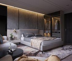The Ultimate Luxury Interior Bedroom Designs Using Neutral Pallets Trick - homeuntold Men's Bedroom Design, Master Bedroom Interior, Home Room Design, Home Decor Bedroom, Bed Design, Bedroom Bed, Bedroom Artwork, Bedroom Ideas, Apartment Interior