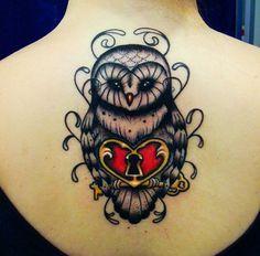 tattoo old school / traditional nautic ink - owl