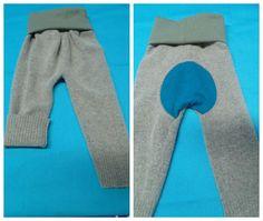 Wool Longies Monkey Bumz Size 1 - Upcycled -  Ready to Ship