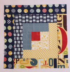 Make a basic Log Cabin Block with a free quilt in a day tutorial