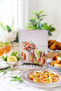 The New Book is HERE! The Southern Entertainer's Cookbook | Pizzazzerie Christmas Cocktail Party, Christmas Cocktails, Cookbook Shelf, Delivering A Baby, James Beard Award, Recipe Ratings, Diy Decoration, Edible Flowers, New Books
