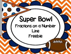 Freebie! Fractions on a number line task cards. Super Bowl themed :)