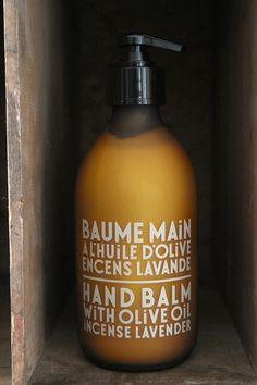 Baume Main à l'huile d'olive encens lavande / Hand Balm with olive oil incense lavender Compagnie de Provence #versionoriginale