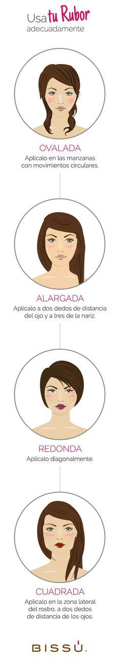 Cómo aplicar rubor según la forma de tu rostro.