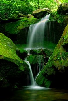 waterfalls - you can hear the sounds of magic and deep relaxation.