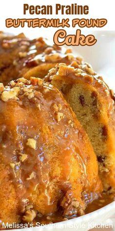 Just Desserts, Delicious Desserts, Dessert Recipes, Yummy Food, Bunt Cakes, Cupcake Cakes, Cupcakes, Pecan Praline Buttermilk Pound Cake, Pecan Praline Pound Cake Recipe