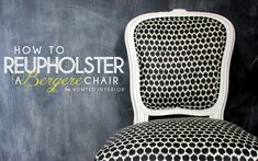 aqua chair redo tutorial (how to reupholster a tufted chair)
