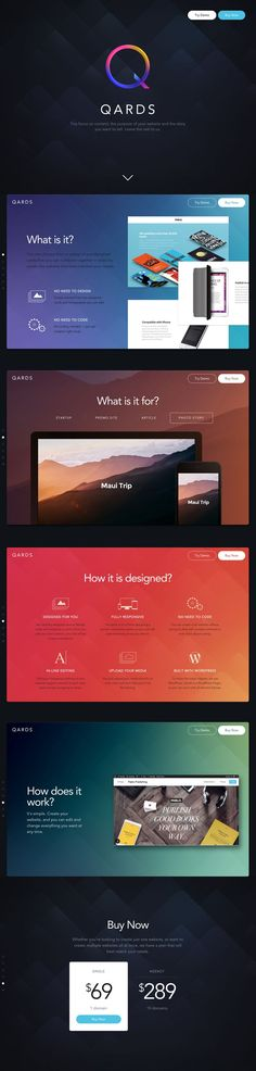 Container Shapes / Layout / Background Gradients /// Modern & Trendy Web Designs