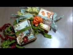 PB: tut-Micro paper bag mini album and binding tutorial! Paper Bag Books, Paper Bag Album, Paper Bags, Mini Scrapbook Albums, Scrapbook Journal, Diy Paper, Paper Crafts, Smash Book Pages, Mini Photo Albums